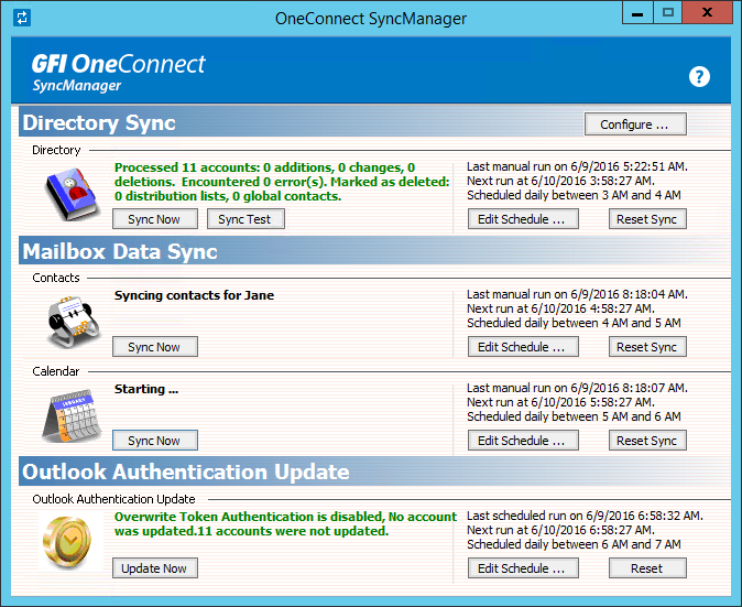 Sync manager