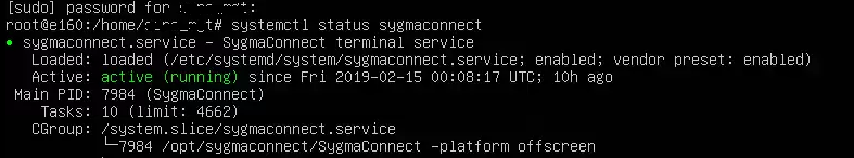 Linux servizio Sygma Connect