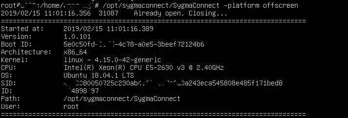 Sygma Connect Linux