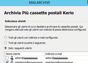 Integrazione con Kerio Connect