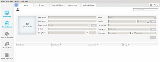 AKCessPro Server Control Users